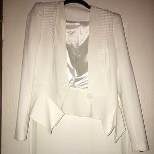 Jackets & Blazers - White crop jacket